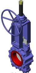 Heavy Duty Knife Cast Steel Gate Valve With Tipe Handwheel And Rising Stem