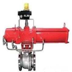 Pneumatic Control Ball Valve DN50 Made By SUS316L Connect By Flange