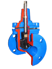 Light Weight Flange End Resilient Seated Gate Valve DIN F4 / Ductile Iron Gate Valves