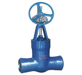 Blue WCB / WC6 Cast Steel Gate Valve For Power Station / Butt Weld Gate Valve